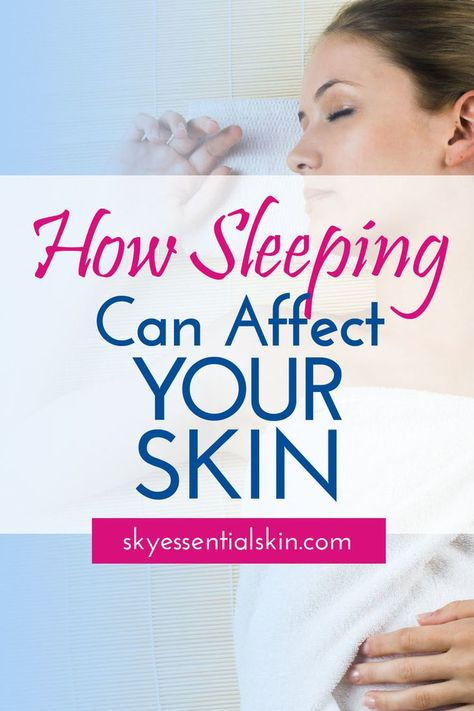 We've all heard the phrase, I need to get some beauty sleep. Beauty sleep isn't just a cute term some people give naps. Sleep can actually impact your skin. Learn what you need to do to keep your skin looking its best. #skincaretips #anti-aging #getting