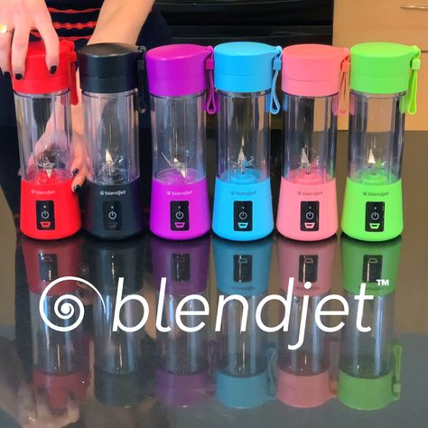 Make Smoothies or Protein Shakes Anywhere! BlendJet is The World's Most Powerful Portable Blender! Equipped with a powerful motor and 6 Blades that can even crush ice! Perfect for The Office, School, Gym, Travel & More!