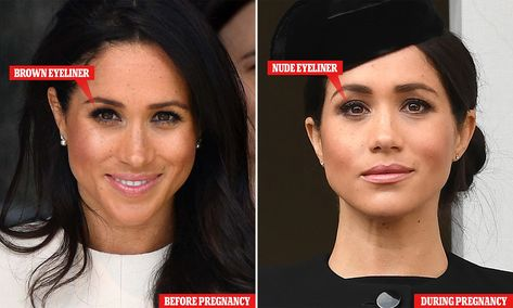 The VERY clever make-up trick pregnant Meghan Markle uses to disguise tired eyes