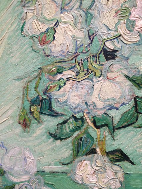 "Van Gogh, gros plan de ""white flowers"", 1890"