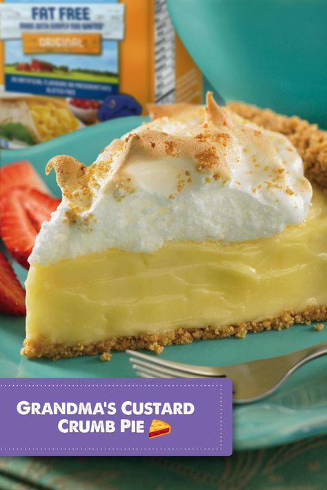Based on a secret family recipe, this dessert makes a delicious alternative to fruit pies. #familyrecipe #pie #pierecipe