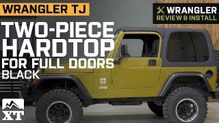 Jeep Wrangler Two Piece Hard Top For Full Doors 97 06 Jeep Wrangler Tj Excluding Unlimited Jeep Wrangler Tj Wrangler Tj Jeep Wrangler
