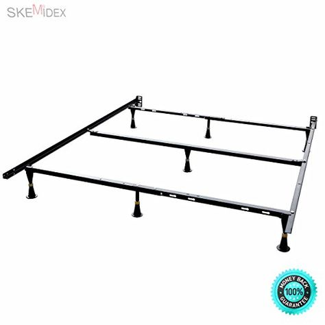 Skemidex Universal Metal Bed Frame Twin Full Queen Size Heavy