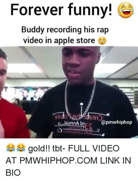 Forever Funny! Buddy Recording His Rap Video in Apple Store