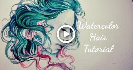 How To Paint Hair Watercolor Painting Tutorial Hair In 2020