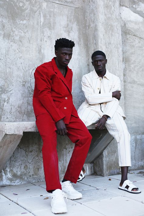 Nigerian twins Tai Akintola and Kehinde Akintola photographed by Juan Veloz and styled by Ugo Mozie
