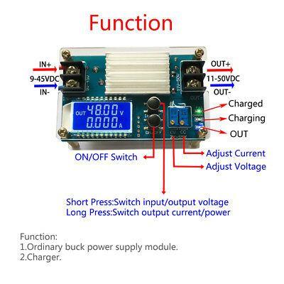 Ad Ebay Dc Dc 10 50v 5a Power Supply Module Adjustable Boost Cvcc Converter Lcd Display Power Supply Converter Lcd