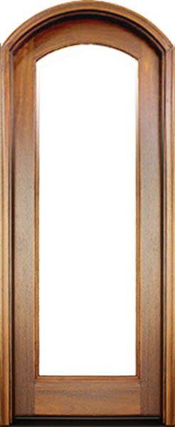 Mahogany Full View 1 Lite Impact Single Door Arch Top 2 1 4 Thick Single Doors Doors Glazed Glass