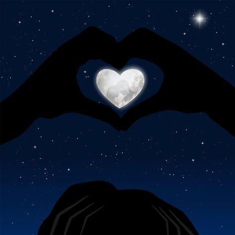 Kostenloses Bild auf Pixabay - Herz, Reflexion, Hände, Sterne