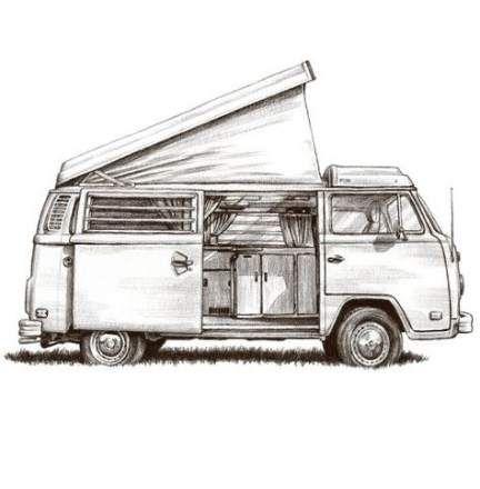 Campers Van Dibujo 32 Ideas For 2019 Volkswagen Camper Volkswagen Camper Van Van Drawing