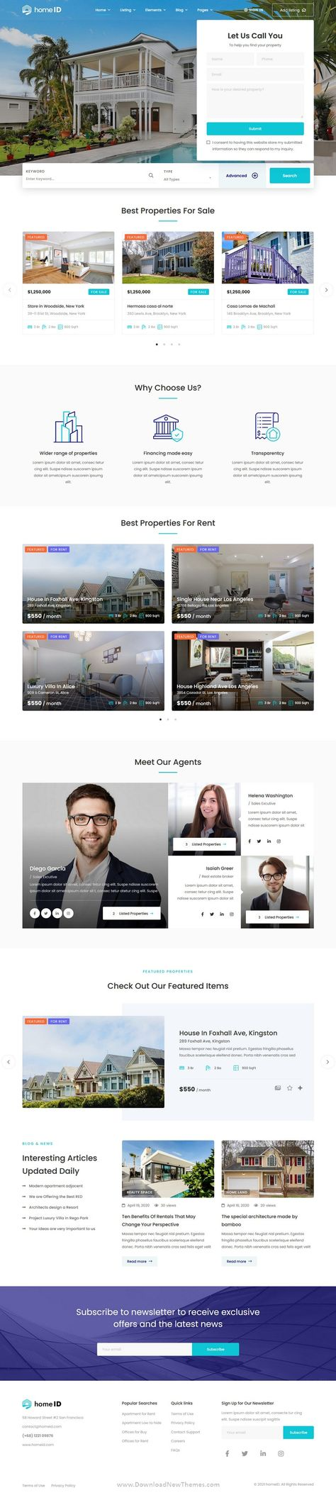 HomeID Real Estate WordPress Theme