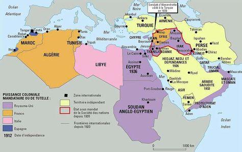 Le Proche-Orient en 1939, par Philippe Rekacewicz (Le Monde diplomatique, août 1992)