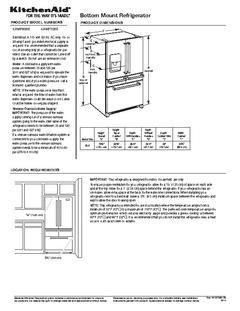 Kitchenaid 25 8 Cu Ft 5 Door Standard Depth French Door Refrigerator With Single Ice Maker Fingerprint Resista French Door Refrigerator Ice Maker French Doors
