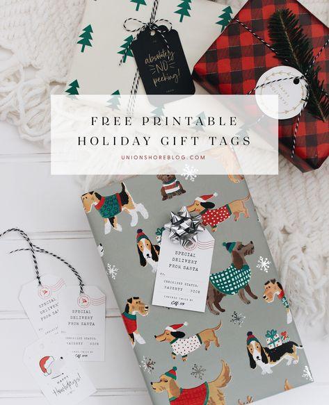 Free Santa Printable Gift Tags - Naughty or Nice Holiday Tags - Dog & Cat Christmas Tags #freeprintable #diychristmas #handmade