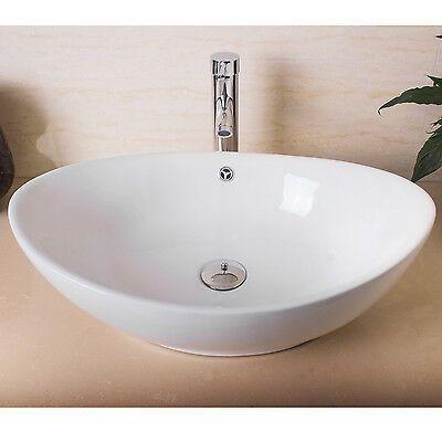 Ceramica Porcelana Banheiro Cuba Pia Bacia Bowl Torneira Ralo Pop Up Combo Branco Ebay Bathroom Sink Bowls Vessel Sink Bowls Vessel Sink Bathroom