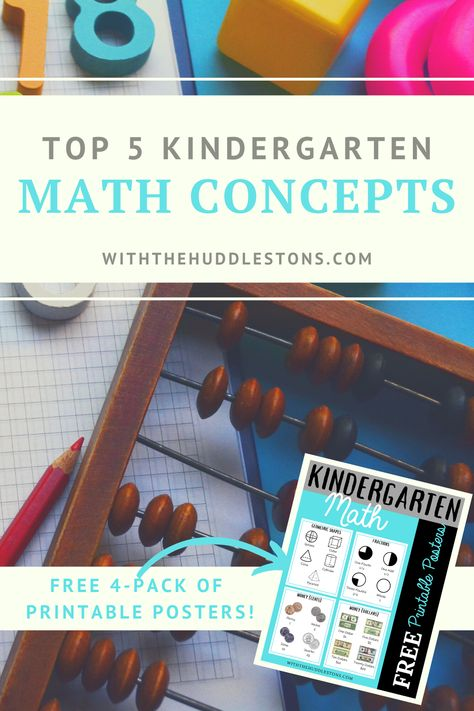 Top 5 Kindergarten Math Concepts - With the Huddlestons