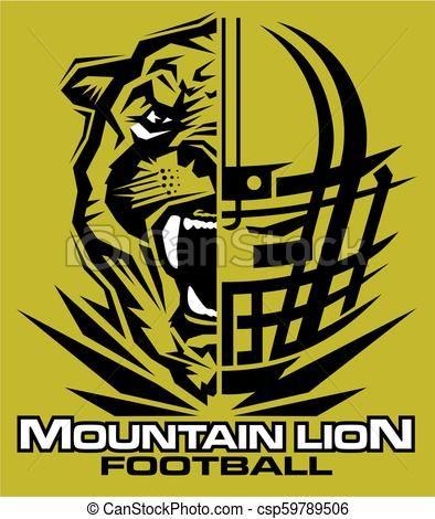 Mountain Lion Football Vector Stock Illustration Royalty Free Illustrations Stock Clip Art Icon Stock Clipart Ico Lions Football Jaguars Football Football