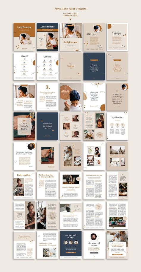 eBook template / InDesign / Kayla