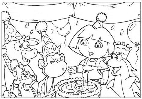 40 Desenhos Da Dora Para Colorir E Imprimir Dora Para Colorir