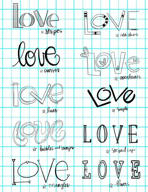 More lettering fun:) Hand Lettering Alphabet, Doodle Lettering, Creative Lettering, Lettering Styles, Calligraphy Letters, Brush Lettering, Love Caligraphy, Writing Styles Fonts, Chalk Typography