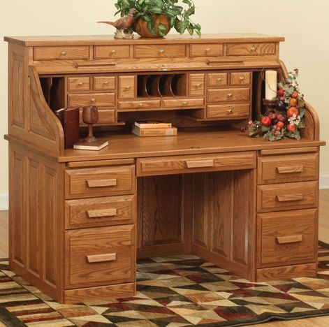Traditional Roll Top Amish Desk Traditional Desk Roll Top Desk Office Furniture Diy