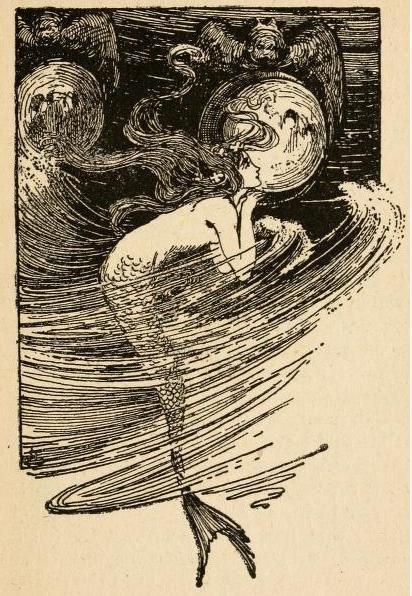 Fairy tales of Hans Andersen illustrated by Helen Stratton 'As often as the water lifter her up she peeped in through the transparent panes. Art Inspo, Kunst Inspo, Art And Illustration, Vintage Illustrations, Mermaid Illustration, Fantasy Kunst, Fantasy Art, Art Nouveau, Mermaid Art