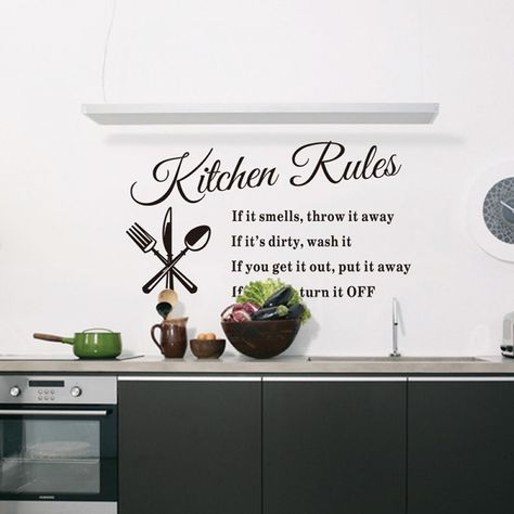 Removable Wall Stickers For Kitchen Wall Stickers Home Decor Kitchen Wall Stickers Handmade Home Decor