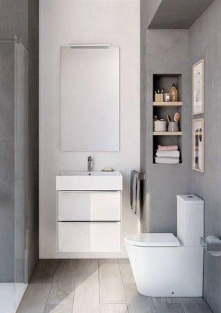 Roca India Roca Bathroom Space Roca Houzz In 2020 Modern Small Bathrooms Small Bathroom Decor Small Bathroom Diy