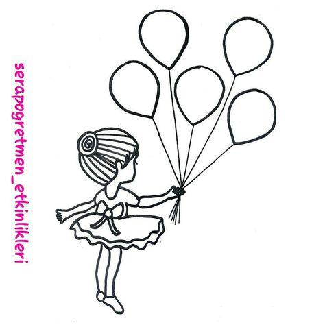 Isteyenler Için Balonlu Kız Kalıbım Biz Kulak çöpü Ve Sulu Boya Ile