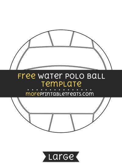 4 Water Polo Balls Tags Toppers With Editable Names and Numbers DIY Template Printable