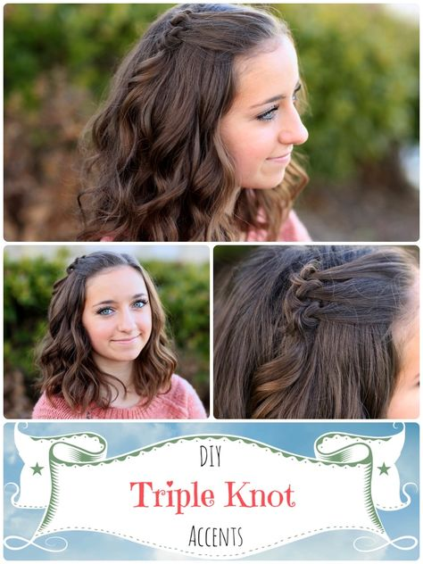 Triple Knot Accent | Short Hairstyle #cutegirlshairstyles #shorthairstyles #accent #hairstyles #hairstyle