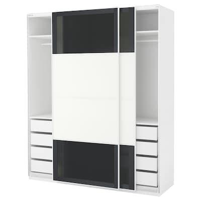 Pax Wardrobe White Mehamn 98 3 8x26x93 1 8 Ikea Pax Wardrobe Ikea Pax Ikea