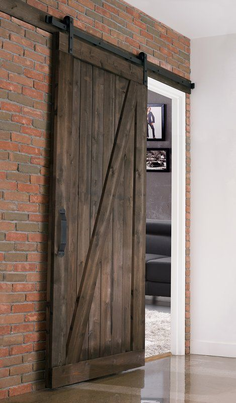 Paneled Wood Finish Prehung Barn Door With Installation Hardware Kit Barn Doors Sliding Indoor Barn Doors Farm Style