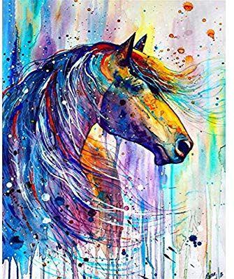 5D DIY Diamond Painting Rhinestone Embroidery Picture Arts Craft Animal Horse