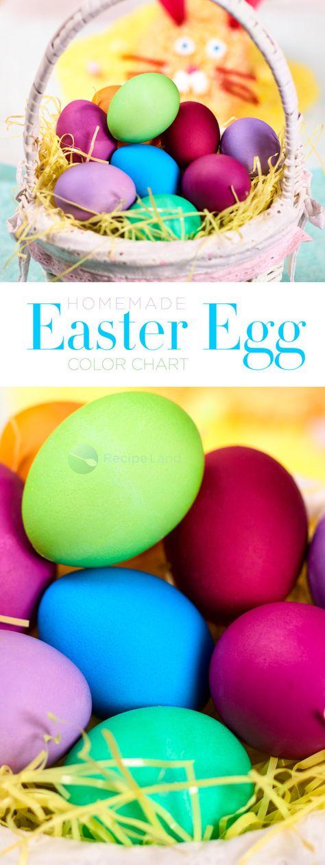 Food Coloring Chart For Easter Eggs Easter Egg Dye Egg Dye And Easter