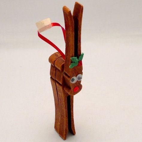 Clothespin Rudolph Ornament