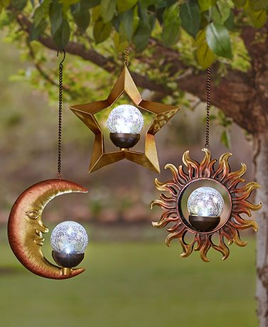 Solar Celestial Hangers | garden accents | Unique garden