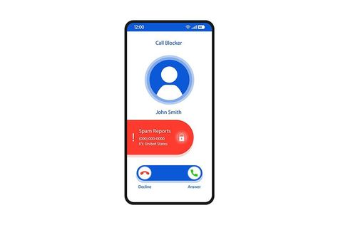 Call blocker smartphone interface