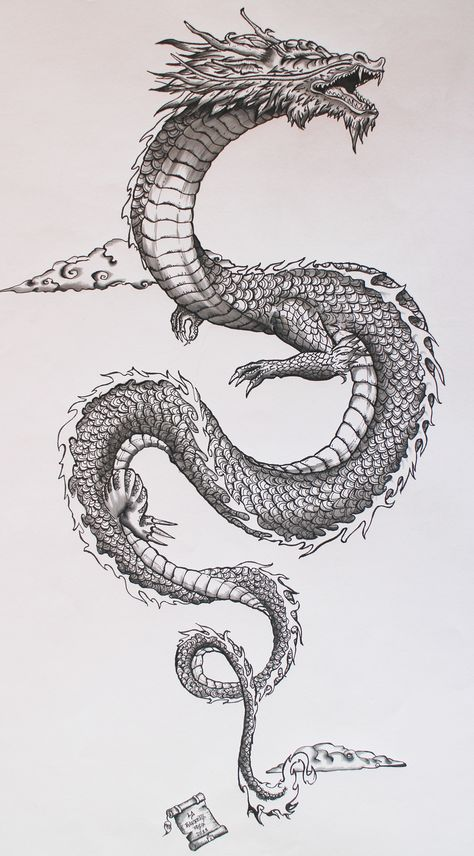 This Japanese dragon is really cool. The scales and details look amazing.