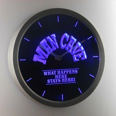 Nc0701 B Man Cave What Happens Here Stays Here Neon Sign Led Wall Clock Fashion Home Garden Homedcor Clocks E In 2020 Led Wall Clock Wall Clock Silent Wall Clock