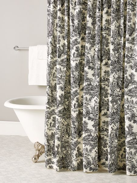 Essex Toile Shower Curtain In 2020 French Country Bathroom