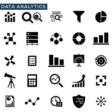 Data Analysis Icons Set Vector Illustration Icon Analysis Data Png And Vector With Transparent Background For Free Download Icon Set Vector Icon Set Analysis