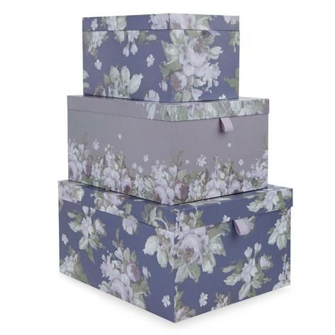 French Romantic Storage Boxes Set Of 3 Storage Boxes Laura Ashley Storage Boxes Pretty Fabric