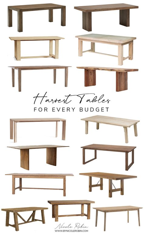 Harvest Tables for Every Budget