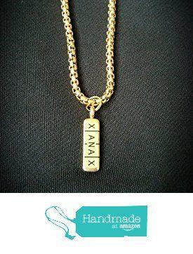 14k gold xanax bar pendant