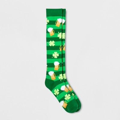 5a847e6c Women's St. Patrick's Day Beer Knee High Socks - Green One Size #Day ...