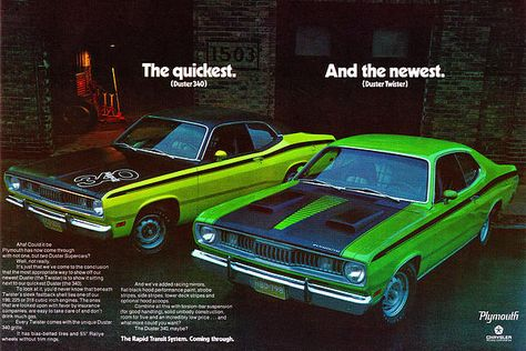 1971 Plymouth Duster 340 and Twister