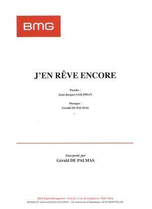 J'en Reve Encore Paroles : encore, paroles, Rêve, Encore, Particuliers, Marchands, Partitions, Chansons,, Partition, Piano,, Palmas