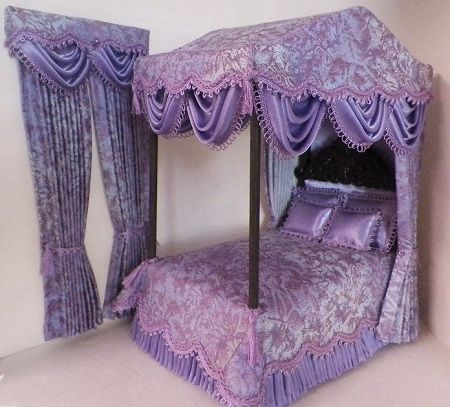 fabulous fairy frost fabric in lavenders plum blue with a splash of mauve metallic 2015 dollhouse bedsets 2 pinterest fabrics miniatures and doll