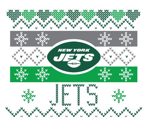 New York Jets Fair Isle / Jets Ugly Sweater SVG PNG / cricut silhouette New York Jets clipart